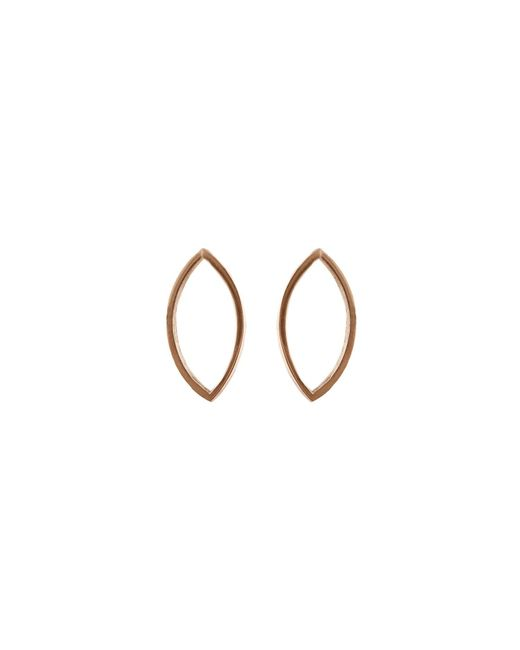 Edge Only - Metallic Marquise Slice Drop Earrings In 14ct Gold - Lyst