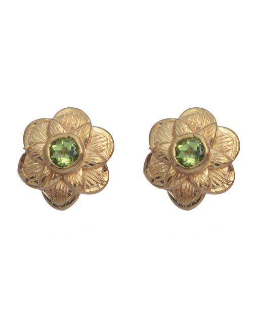 Emma Chapman Jewels | Green Gypsy Rose Peridot Stud Earrings | Lyst