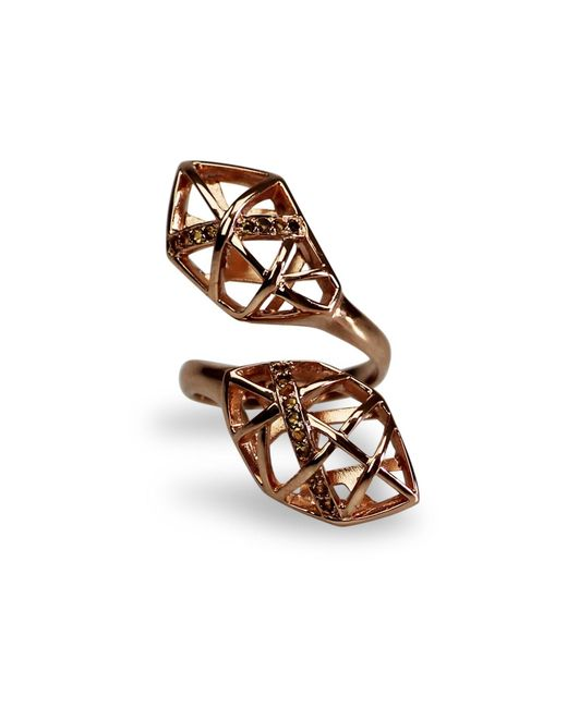 Bellus Domina | Metallic Citrine & Rose Gold Geometric Ring | Lyst