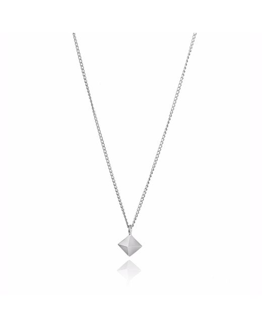Myia Bonner - Metallic Silver Mini Octahedron Necklace - Lyst