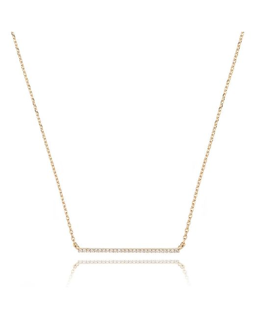 Astrid & Miyu | Metallic Walk The Line Big Bar Necklace In Gold | Lyst