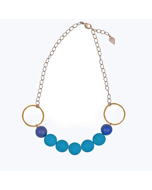 Magpie Rose | Blue Turquoise & Lapis Luzuli Necklace | Lyst