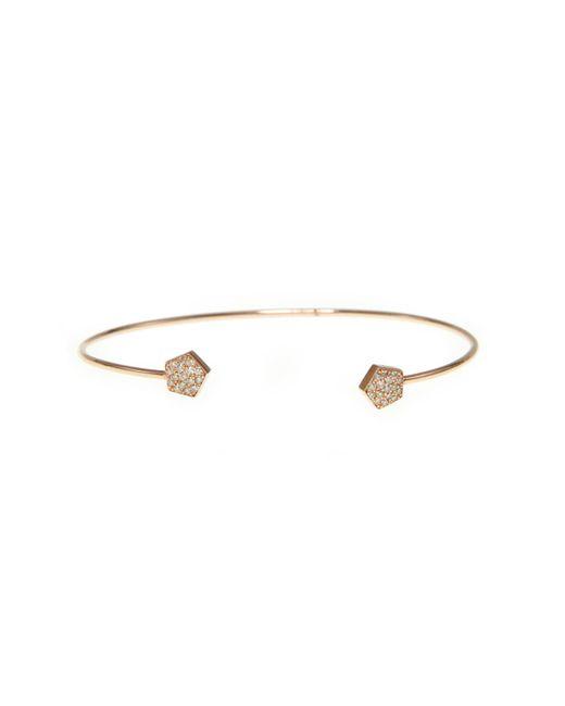Ri Noor - Metallic Pentagon Diamond Bangle - Lyst