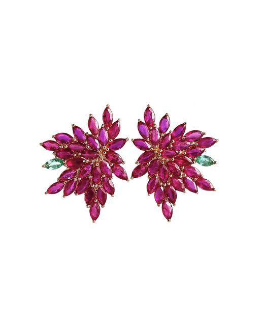 Joana Salazar | Red Blossom Petite Earrings | Lyst