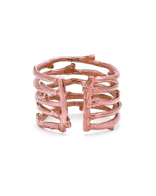 Chupi | Multicolor Love Is All You Need Twig Ring In Rose Gold | Lyst
