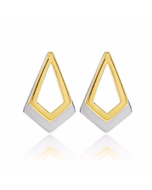 Neola - Metallic Serenity Gold & Sterling Silver Earrings - Lyst