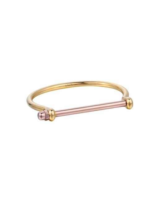 Opes Robur - Metallic Gold & Rose Gold Cuff Bracelet - Lyst