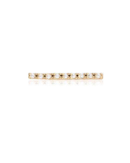 Astrid & Miyu - Metallic Thin Line Ear Cuff Gold - Lyst