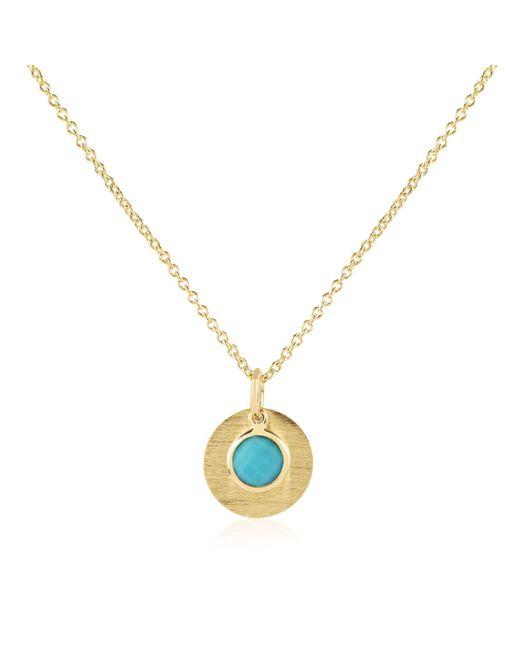 Auree Jewellery - Blue Bali December Birthstone Necklace Turquoise - Lyst