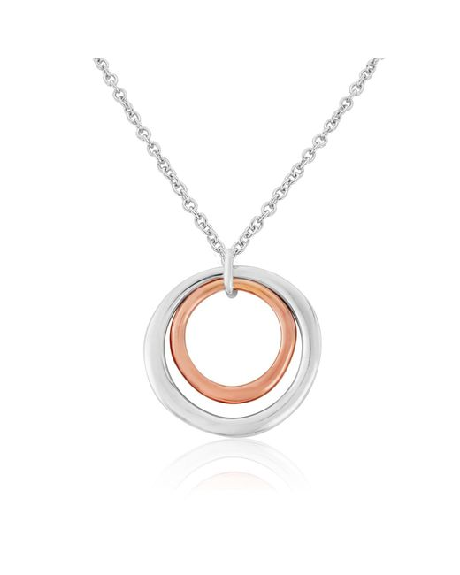 Auree Jewellery | Metallic Ifield Sterling Silver & 18ct Rose Gold Rings Necklace | Lyst