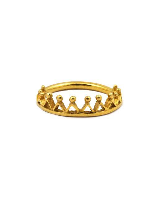 Annabelle Lucilla Jewellery - Metallic Dainty Stella Crown Ring Gold - Lyst