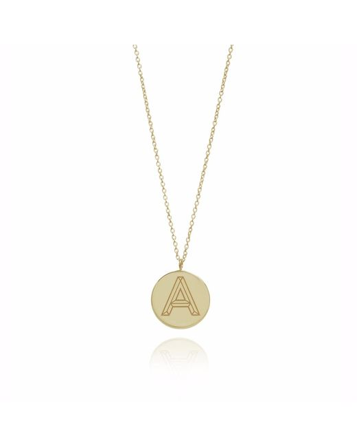 Myia Bonner | Metallic Gold Facett Initial Necklace A-z | Lyst