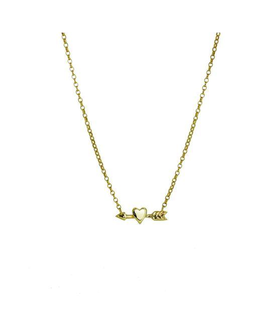 Yvonne Henderson Jewellery - Metallic Heart And Arrow Charm Necklace - Lyst
