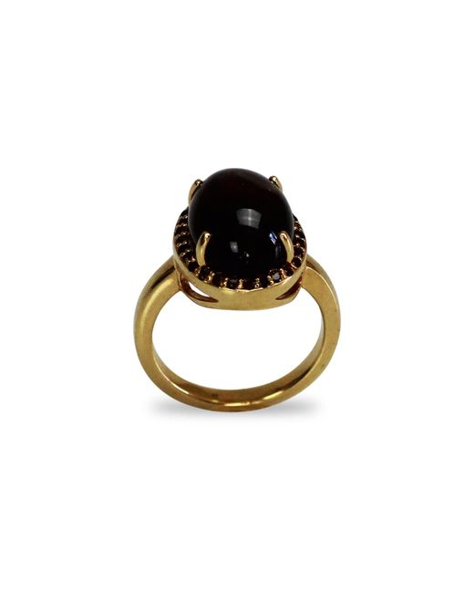 Bellus Domina - Metallic Smoky Quartz Oval Ring - Lyst