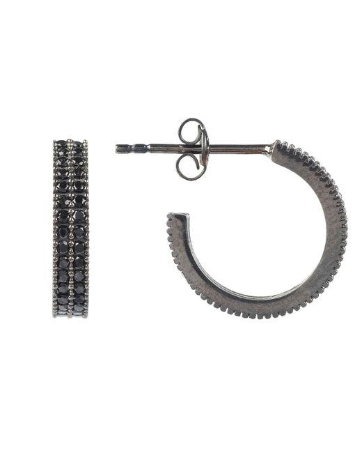 Latelita London - Medium Hoop Earring Oxidised Black - Lyst