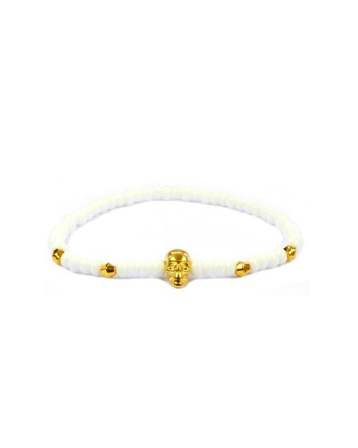 CLARISTE JEWELRY | Multicolor Men's Skull Bracelet White & Gold for Men | Lyst