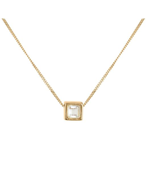 Lee Renee | Multicolor White Tourmaline Square Cut Necklace | Lyst