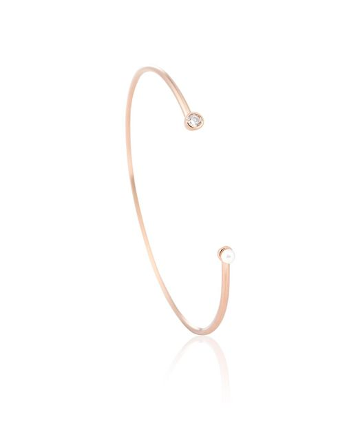 Astrid & Miyu | Metallic Rose Gold Gemini Bangle | Lyst