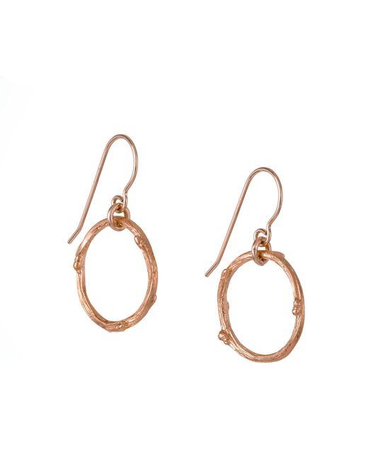 Chupi - Metallic Hawthorn Twig Infinity Earrings Rose Gold - Lyst