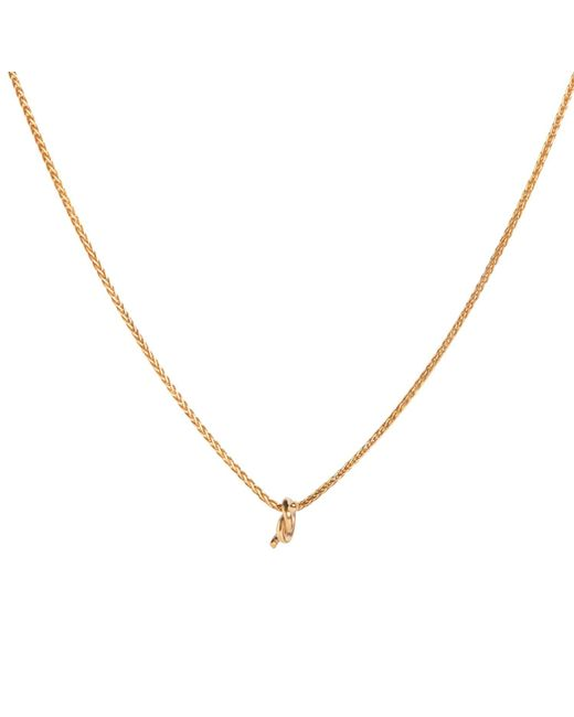 Dutch Basics - Metallic Gold Plated Necklace With Gold Plated Knot Pendant - Lyst