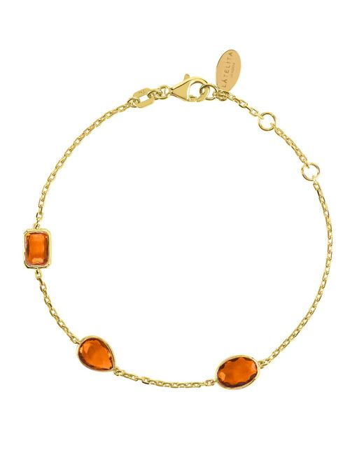 Latelita London | Metallic Venice Bracelet Gold Citrine | Lyst