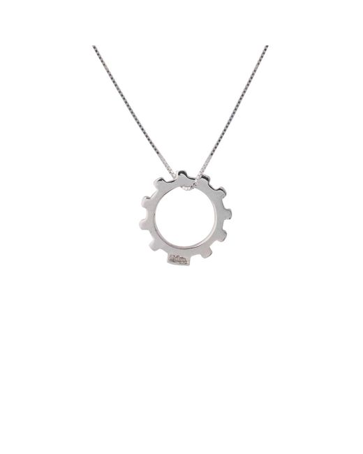 Edge Only | Metallic Gear Necklace Mens Silver for Men | Lyst