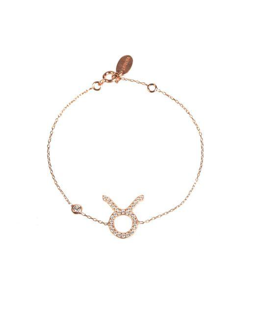 Latelita London - Metallic Zodiac Bracelet Rosegold Taurus - Lyst