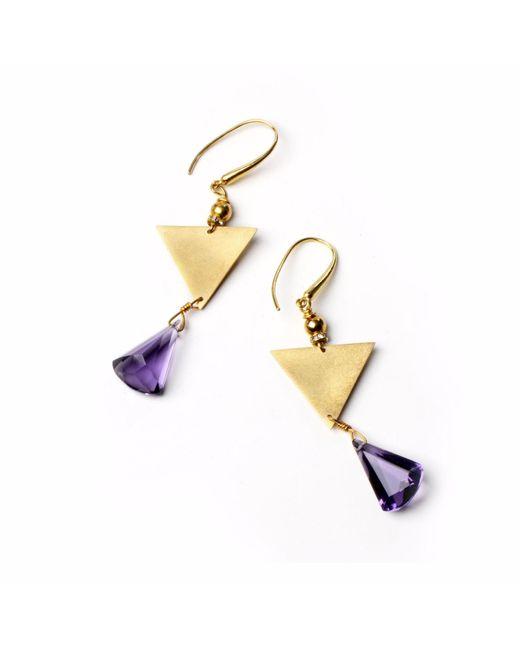 Nakibirango - London - Metallic Amethyst Ananda Earrings - Lyst