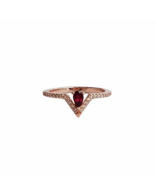 Ri Noor - Pink Pear Ruby & Diamond Ring - Lyst