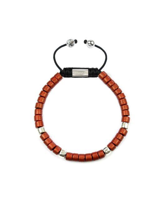 CLARISTE JEWELRY | Men's Ceramic Bead Bracelet Red & Silver for Men | Lyst