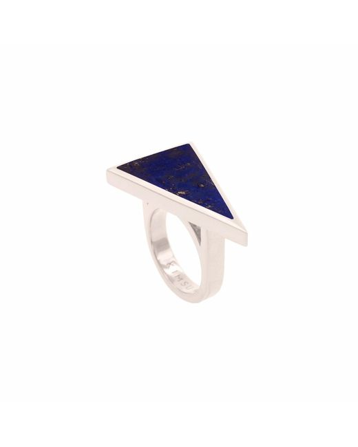 KIMSU | Metallic Sterling Silver Triangolo Ring | Lyst