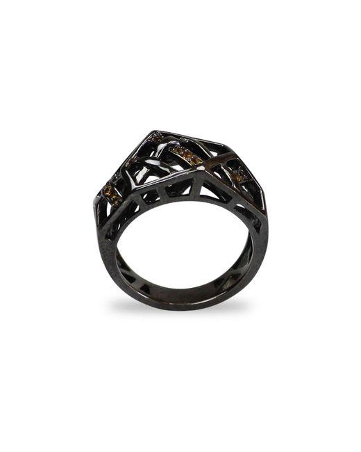 Bellus Domina - Black Citrine Hexa Ring Sterling Silver - Lyst