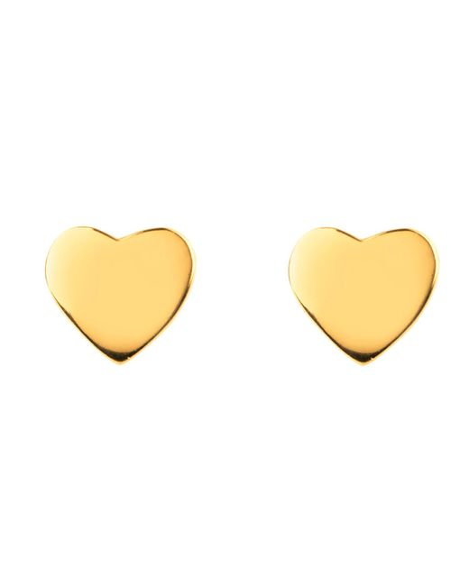 Latelita London - Metallic Cosmic Mini Heart Earring Gold - Lyst
