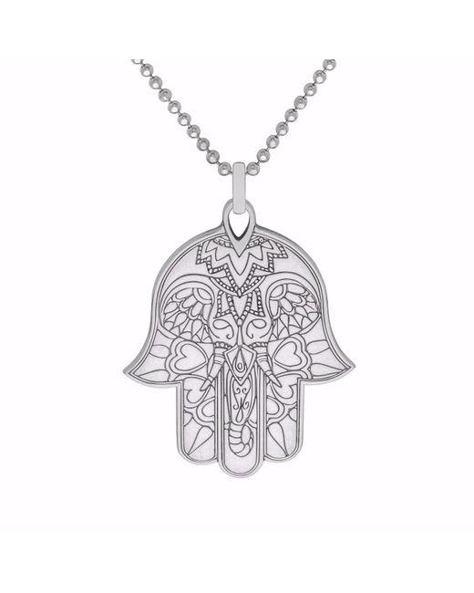Cartergore silver hamsa hand pendant necklace in metallic save 6 cartergore metallic silver hamsa hand pendant necklace lyst aloadofball Choice Image