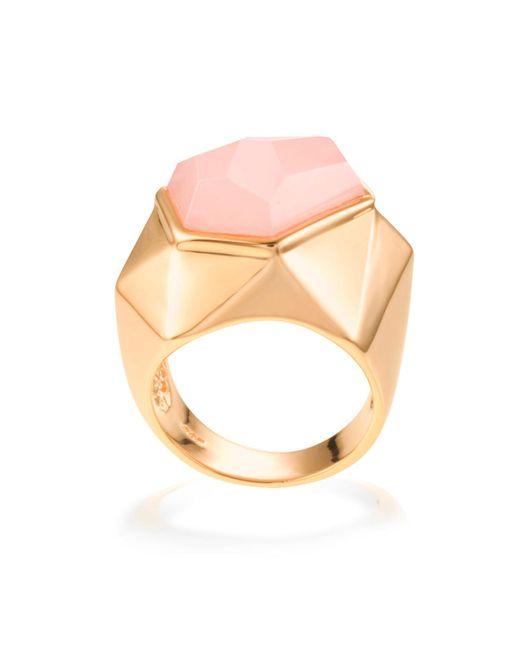 Ona Chan Jewelry | Pink Lattice Cocktail Ring Rose Quartz | Lyst
