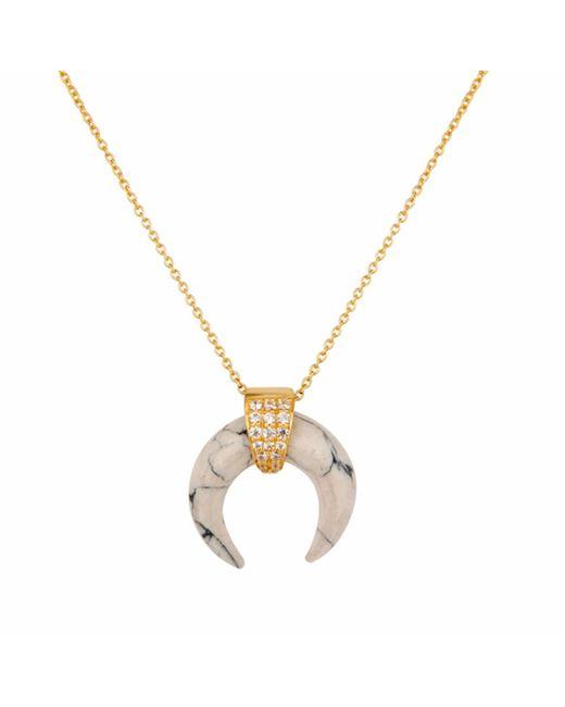 Carousel Jewels   Metallic Howlite Horn Necklace   Lyst
