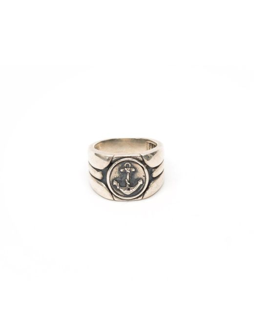 Serge Denimes - Metallic Anchor Ring for Men - Lyst