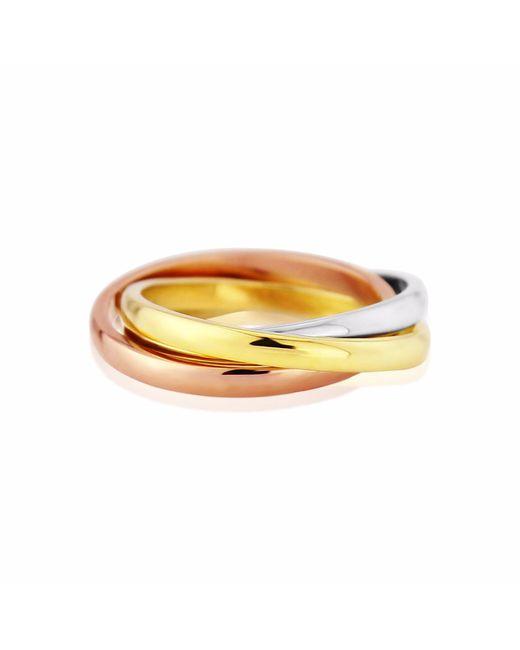 Auree Jewellery - Metallic Walton Three Colour Gold Russian Wedding Ring - Lyst