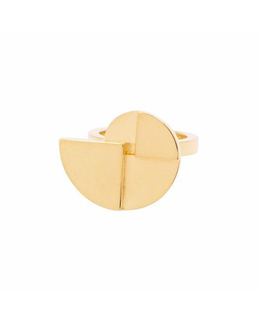 KIMSU - Metallic 18k Vermeil Gold Gira Ring - Lyst