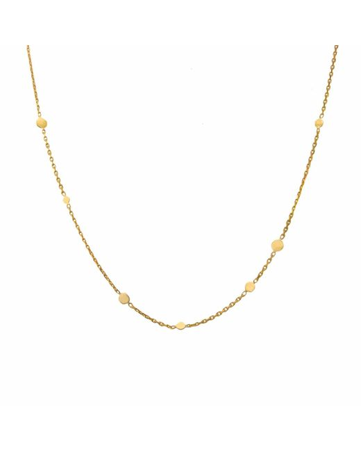 Irena Chmura Jewellery - Metallic Dots & Chain Necklace - Lyst