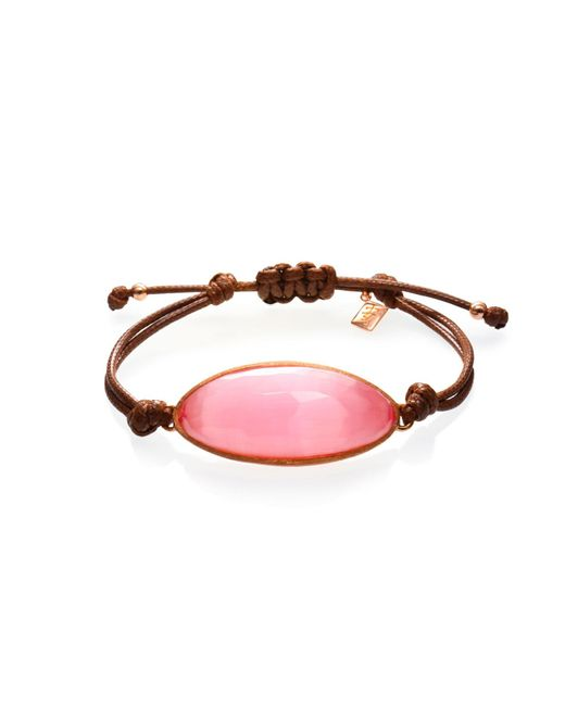 Ona Chan Jewelry | Lattice Corded Bracelet Pink Dark | Lyst