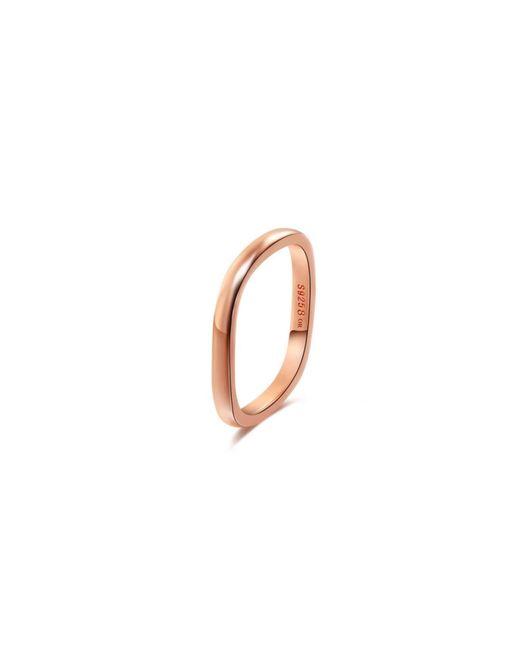 Opes Robur - Metallic Rose Gold Vermeil Stacking Ring - Lyst