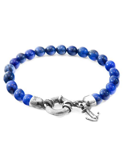Anchor & Crew - Multicolor Blue Sodalite Port Silver & Stone Bracelet for Men - Lyst