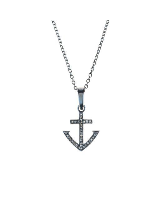 Latelita London | Black Anchor Chain Oxidised With Diamonds | Lyst