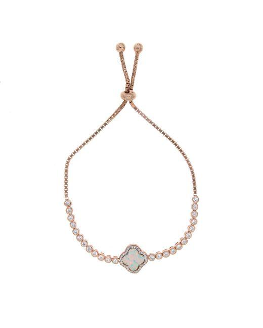 Cosanuova | Metallic Rose Opal Clover Bracelet | Lyst