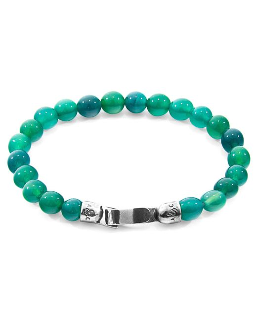 Anchor & Crew - Multicolor Reen Agate Outrigger Silver & Stone Bracelet for Men - Lyst