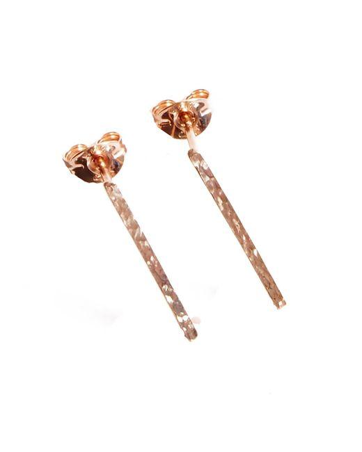 KIND Jewellery | Metallic Rose Gold Horizon Earrings | Lyst