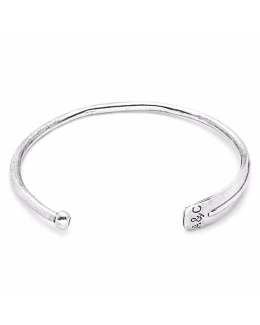 Anchor & Crew | Metallic Paddle Navigation Silver Bangle for Men | Lyst