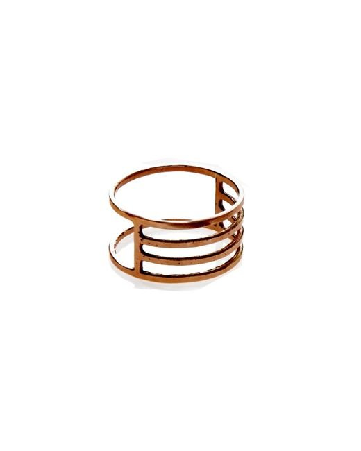 KIND Jewellery   Metallic Rose Gold Eclipse Ring   Lyst
