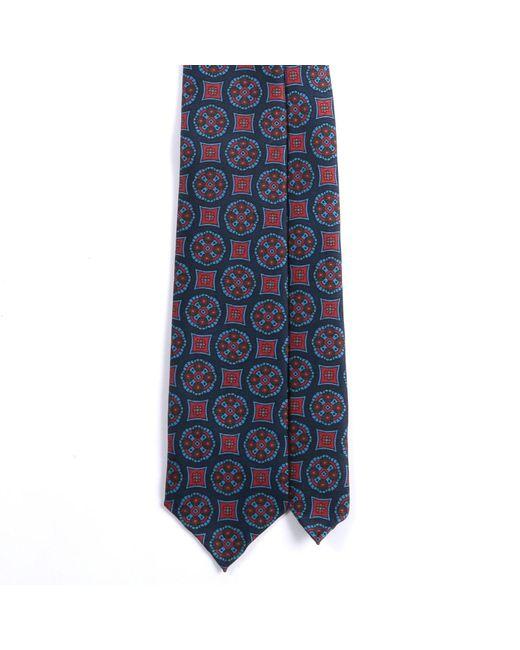 EZRA AMARFIO | Blue Medallion Print 36oz Madder Silk Tie for Men | Lyst